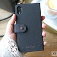 Lisa Angel Black Vegan Leather iPhone XR Mini Wallet Case