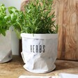 Personalised Round Marble Paper Plant Pot with Herbs Inside