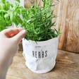 Extra Small Personalised Round Marble Paper Plant Pot