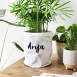 Mini Personalised Name Round Marble Paper Plant Pot