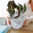Lisa Angel Special Personalised Thank You Round Marble Paper Plant Pot