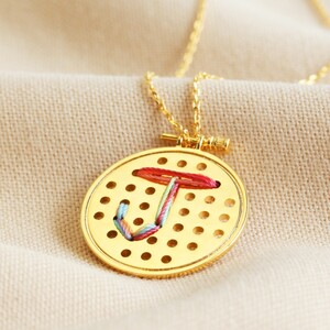 'Embroider Your Own' Necklace Kit in Gold