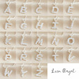 Lisa Angel Unique Hammered Initial Charm Necklaces in Silver