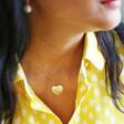 Lisa Angel Engraved Personalised Diamante Crystal Heart Necklace