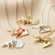 Lisa Angel Ladies' Personalised Dinosaur Necklaces