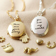 Lisa Angel Personalised Meaningful Charms Oval Locket Necklace