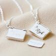 Lisa Angel Ladies' Engraved Personalised Small Silver Envelope Necklace