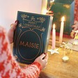 Festive Font on Personalised Vintage Book Fill Your Own Advent Calendar