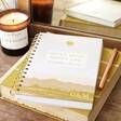 Personalised Sunset Yellow Happy Mind Happy Life Positivity Planner
