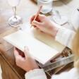 Inside of Personalised Fabric Wedding Planner Notebook