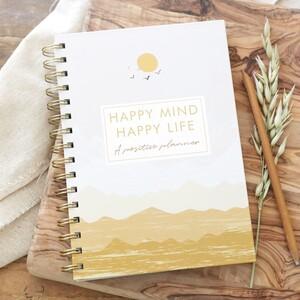 Sunset Yellow Happy Mind Happy Life Positivity Planner