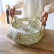 Lisa Angel Large Round Open Weave Basket