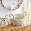 Round Open Weave Basket - Medium