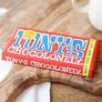 Front of Tony's Chocolonely Milk Chocolate Bar