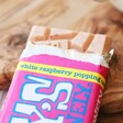 Tony's Chocolonely Fairtrade White Chocolate Raspberry Popping Candy Bar