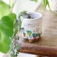 Ceramic Small 'Crazy Plant Lady' Standing Planter