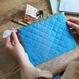 Quilted Back of Under the Sea Pouch Bag