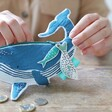 Little Ark Whale Coin Purse with Fish on Zip