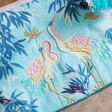 Crane Detail on Luxe Crane Make Up Bag From Lisa Angel