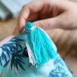 Wool Tassel on Luxe Crane Make Up Bag From Lisa Angel