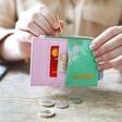 Back of Moomin Ditsy Floral Card Holder