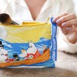 Moomin Ocean Cotton Pouch with Removeable Wrist Strap