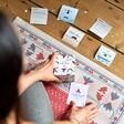 Model Using Yoga Challenge Cards