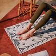Lisa Angel DOIY Berber Rug Yoga Mat with Model