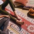 Lisa Angel Persian Rug Yoga Mat with Model
