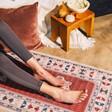 Lisa Angel Persian Rug Yoga Mat Used by Model