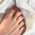 Lisa Angel Vintage Style Sterling Silver Sun Toe Ring on Model