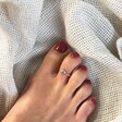Lisa Angel Women's Vintage Style Sterling Silver Sun Toe Ring on Model