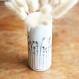 East of India Mini Handpicked Porcelain Vase Close Up