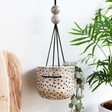 Lisa Angel with East of India Spotty Hanging Planter