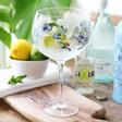 Hydrangea Design Balloon Gin Glass