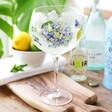 Blue Hydrangea Balloon Gin Glass