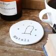 Personalised Constellation Organic Shape Coaster Gemini