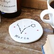 Personalised Constellation Organic Shape Coaster Pisces