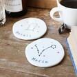 Personalised Constellation Organic Shape Coasters