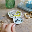 Colourful Small Personalised Wildflower Trinket Dish