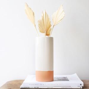 White Glaze Dipped Vase, H22cm