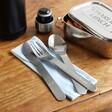 Lisa Angel Stainless Steel Travel Cutlery Set in Blue