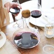 Sagaform Wine Carafe with Personalised Oak Stopper On table