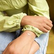 Lisa Angel Delicate Gold Sterling Silver Feather Bracelet on Model