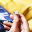 Model Wearing Ladies' Lisa Angel Personalised Initial Stainless Steel Oval Signet Ring