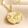 Lisa Angel Gold Stainless Steel Zodiac Pendant Necklace
