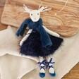 Lisa Angel Navy Reindeer Doll Decoration