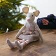 Lisa Angel Pink Mouse Doll Decoration