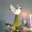 Dove Felt Tree Topper on Top of Tree