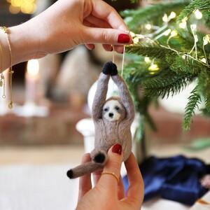 Felt Sloth Hanging Decoration